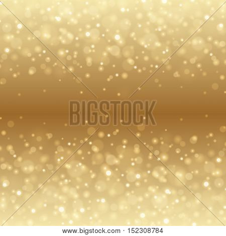 Abstract Golden Light Bokeh Background Vector Illustration.
