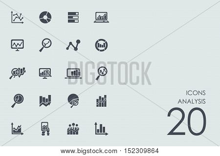 analysis vector set of modern simple icons