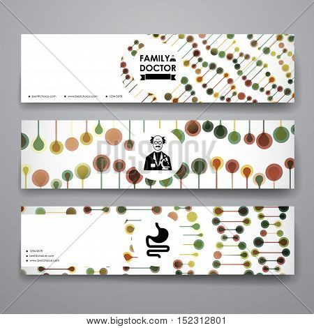 Set of modern design banner template in healthcare style. Beautiful design and layout