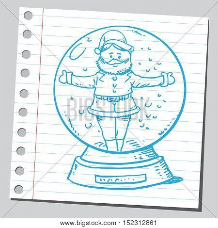 Santa claus in snow globe