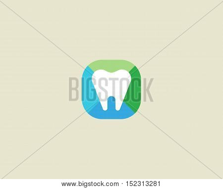 Abstract tooth logo design. Dental creative symbol. Universal vector icon