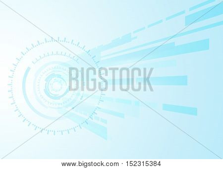 vector background blue abstract technology communication concept, futuristic background, techno circle.