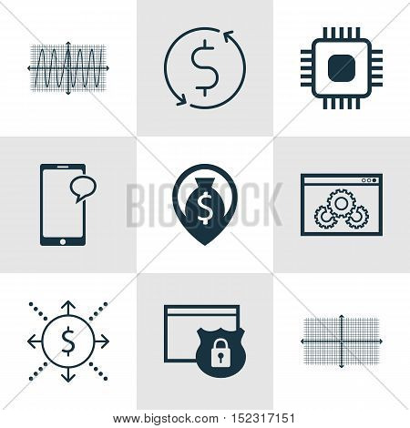 Set Of 9 Universal Editable Icons For Human Resources, Marketing And Statistics Topics. Includes Ico