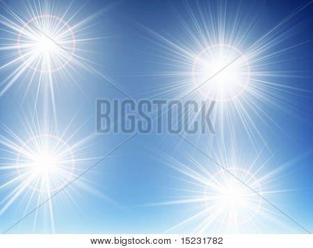 dark blue night sky shined by bright, white stars
