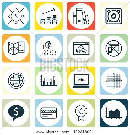 Set Of 16 Universal Editable Icons For Travel, Airport And Human Resources Topics. Includes Icons Su