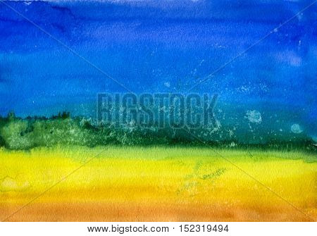Abstract Rainbow Background. Watercolor Gradient with Grains of Salt. Colorful Pattern. Hand Drawn Illustration.