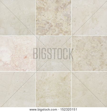 Beige and pink marble backgrounds marble textures with natural pattern. Every image 4 MP 2000 x 2000.