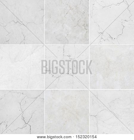 Gray and white marble backgrounds marble textures with natural pattern. Every image 4 MP 2000 x 2000.