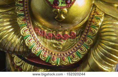 Close up view of the God of Wisdom - The Ganesha