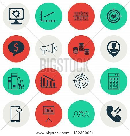 Set Of 16 Universal Editable Icons For Travel, Human Resources And Statistics Topics. Includes Icons