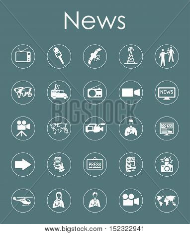It is a set of news simple web icons