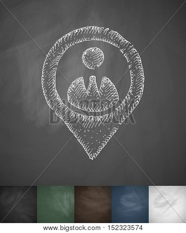 man icon. Hand drawn vector illustration. Chalkboard Design