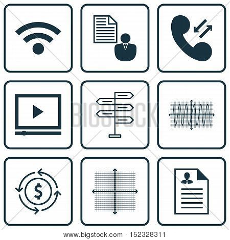 Set Of 9 Universal Editable Icons For Computer Hardware, Marketing And Human Resources Topics. Inclu