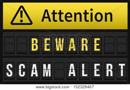 Beware Scam Alert Message