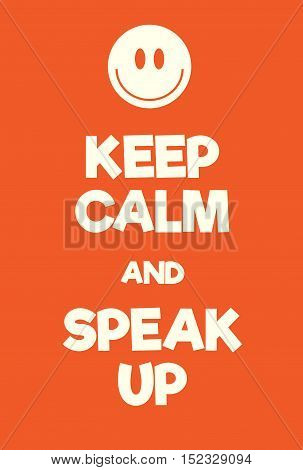 Keep Calm And Speal Up Poster