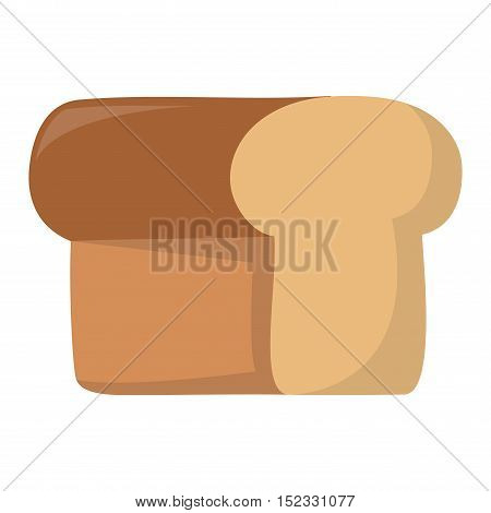 Bread isolated on white background. Bread vector food and fresh tasty. Bread slices breakfast loaf white wheat and diet crust natural eat fresh bake.