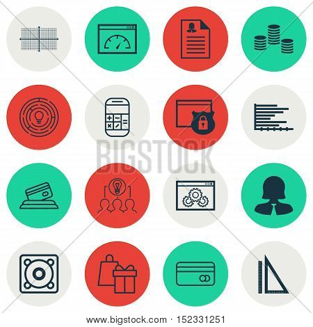 Set Of 16 Universal Editable Icons For Airport, Education And Statistics Topics. Includes Icons Such