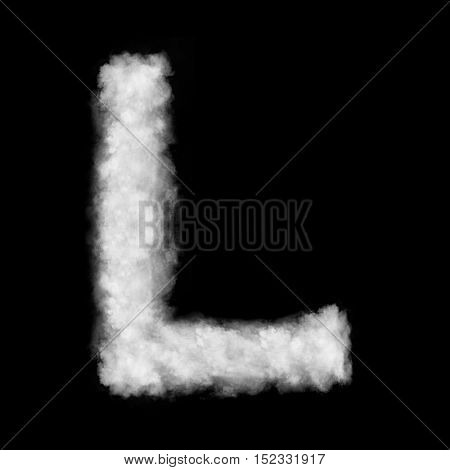 letter L made of the clouds