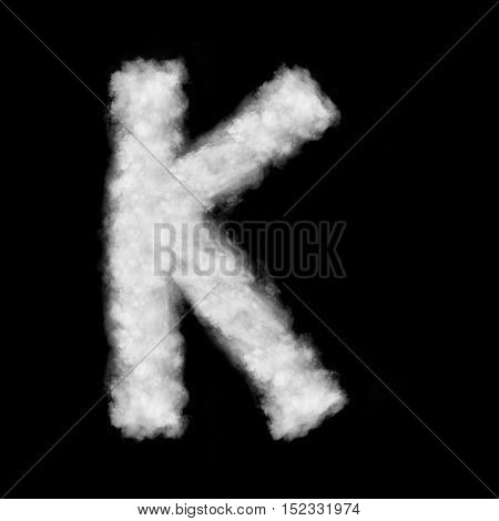 letter K made of the clouds