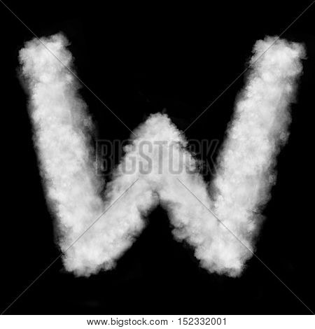 letter W made of the clouds