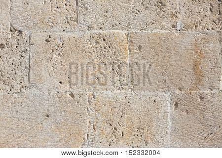 Seamless light brick stone texture pattern