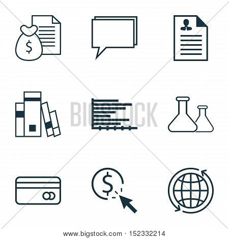 Set Of 9 Universal Editable Icons For Airport, Project Management And Education Topics. Includes Ico