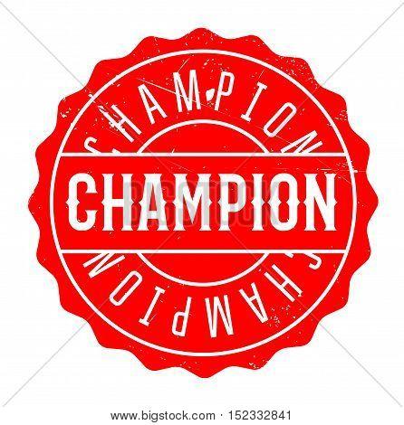 Champion Rubber Stamp
