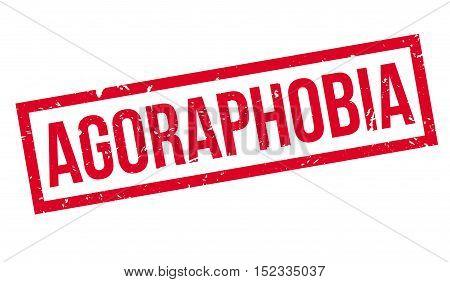 Agoraphobia Rubber Stamp