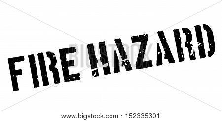 Fire Hazard Rubber Stamp