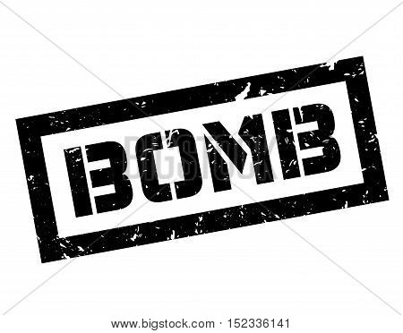 Bomb Rubber Stamp