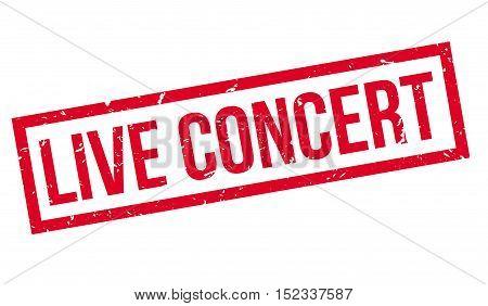 Live Concert Rubber Stamp