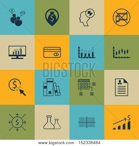 Set Of 16 Universal Editable Icons For Seo, Airport And Statistics Topics. Includes Icons Such As Hu