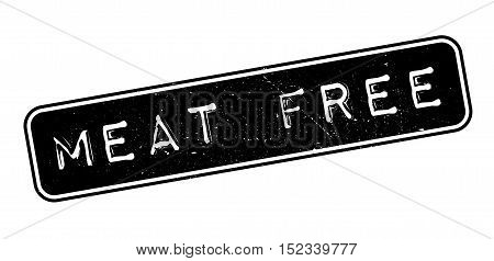 Meat Free Rubber Stamp