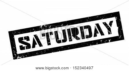 Saturday Rubber Stamp
