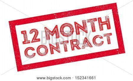 12 Month Contract Rubber Stamp