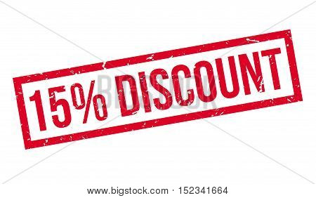 15 Percent Discount Rubber Stamp