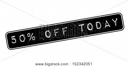 50 Percent Off Today Rubber Stamp