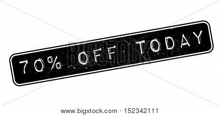 70 Percent Off Today Rubber Stamp