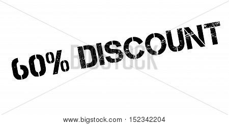 60 Percent Discount Rubber Stamp