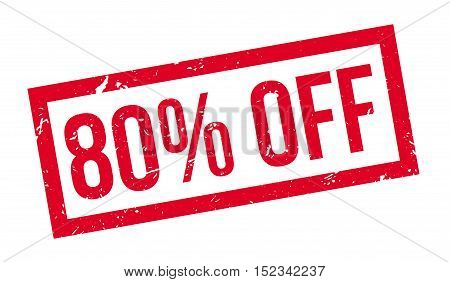80 Percent Off Rubber Stamp
