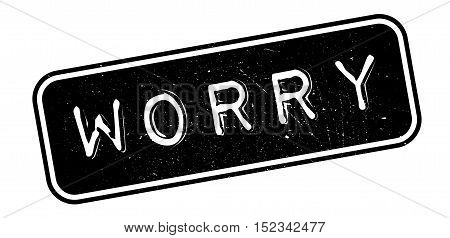 Worry Rubber Stamp
