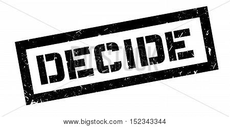 Decide Rubber Stamp
