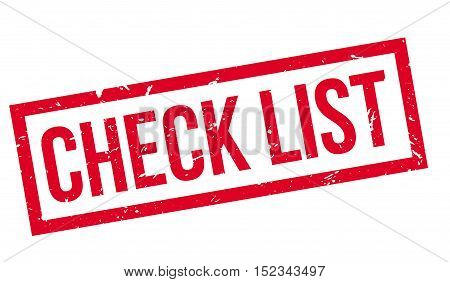 Check List Rubber Stamp