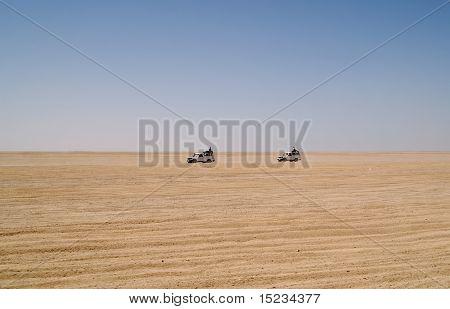 cars in desert
