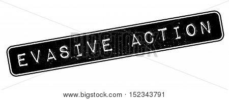 Evasive Action Rubber Stamp