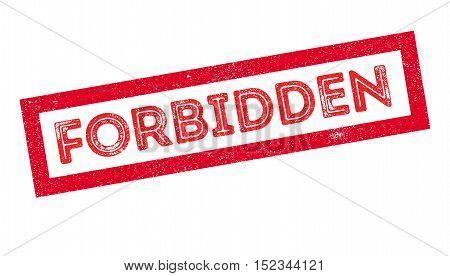 Forbidden Rubber Stamp