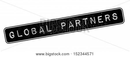 Global Partners Rubber Stamp