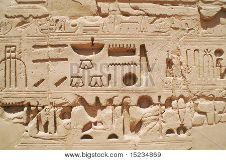 Ägypten Hieroglyphen in luxor