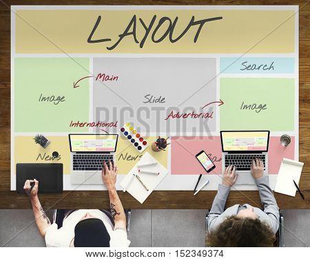 Layout Website Content Web Design Concept