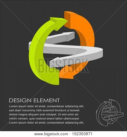 Vector illustration of recycle concept design element